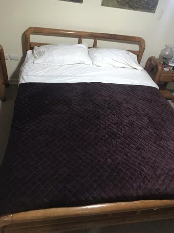 Cama 2 plazas pino Oregón y regalo colchón