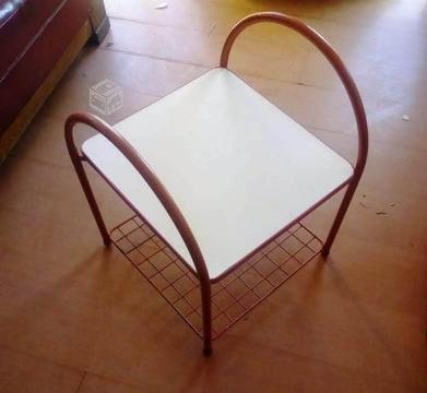 Mesa metalica con cubierta melamina